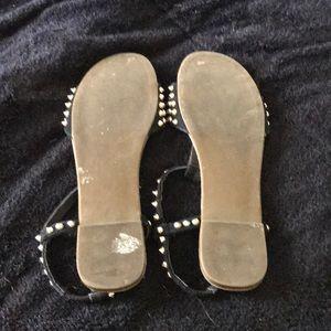 Steve Madden Shoes - Studded black flats